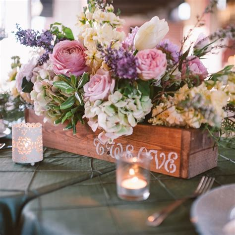 Beautiful Wedding Flowers by Beautiful Flower Box Centerpieces With Pastel Flowers