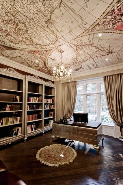 Home Designer Pro 2014 Library Home Office Featuring Stretched Ceiling Digitally Printed