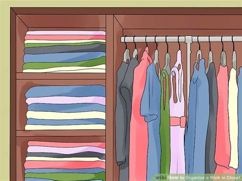 How To Organize Your Closet Wikihow by How To Organize A Walk In Closet 15 Steps With Pictures