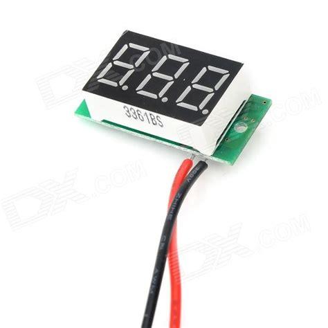 036 Digital Voltmeter 3 Wire 0 40vdc Hijau sj dc036 a 2 wire 0 4 quot 3 digit digital readout voltmeter module w protection