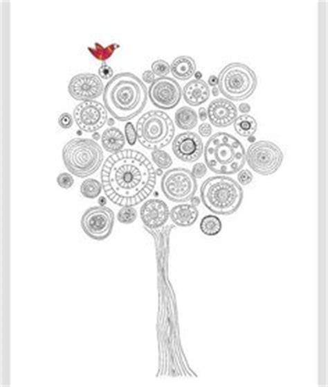 doodle meaning trees this black white quot b quot is part of the new zenspirations