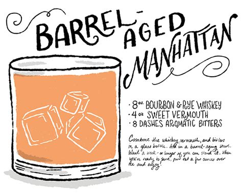 cocktail cards template friday happy hour a barrel aged manhattan