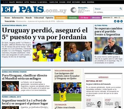 medios de prensa uruguay total medios de comunicaci 243 n de uruguay se resignan a la repesca