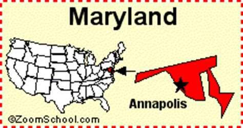 maryland map with capital maryland facts map and state symbols enchantedlearning