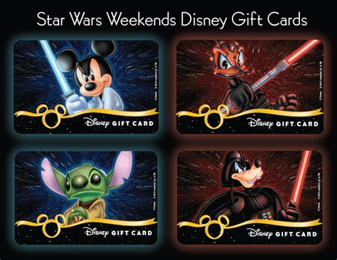 Star Wars Gift Cards - new disney gift cards available during star wars weekends at disney s hollywood studios