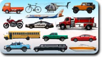 learning vehicles names and sounds for with