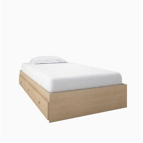 twin captains bed twin captain s bed in natural finish 5600