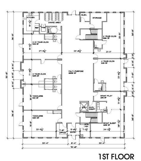 day care floor plan 12 small commercial building designs images small