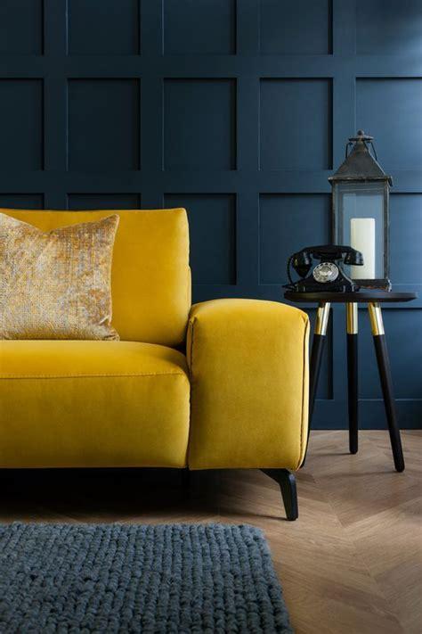 luxury mustard yellow sofa perfect  dark moody living