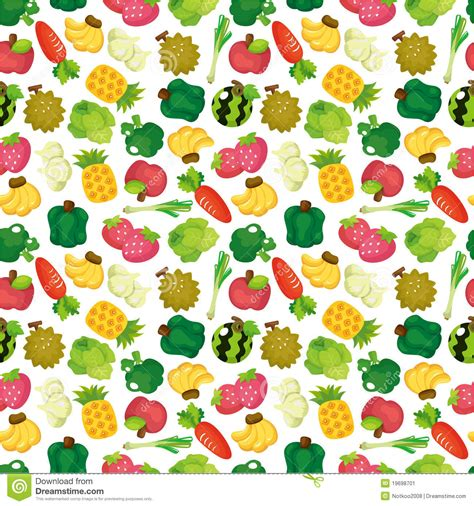 vegetables pattern wallpaper cartoon fruits and vegetables seamless pattern stock