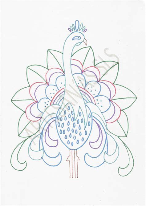 imajenes de dibujo de pavo real para bordar dise 241 o para bordado mexicano pavo real si quieres