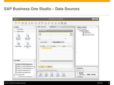 tutorial sdk sap business one ppt sdk 9 0 introduction to sap business one studio