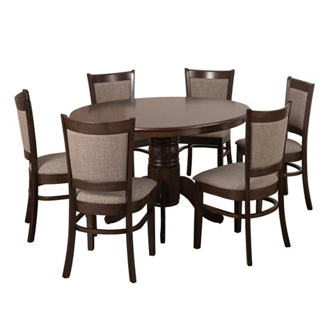 oliver 120cm dining table 6x mandy dining chairs