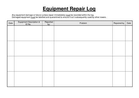 best photos of equipment repair sheet maintenance repair