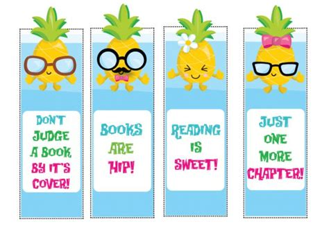 printable bookmarks for young adults free printable pineapple bookmarks not quite susie