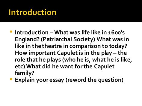 Romeo And Juliet Essay Introduction by Romeo And Juliet Writing Essay