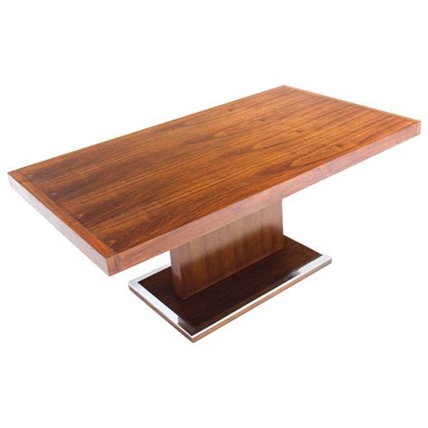 rectangular pedestal dining room table mid century modern rectangular pedestal base walnut dining