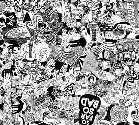 black pen doodles andy smith created this illustration using doodles to fill