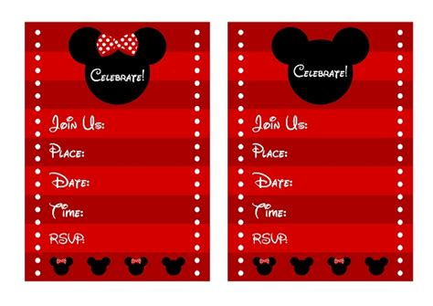 FREE Mickey & Minnie Mouse Birthday Party Printables from Printabelle   Catch My Party