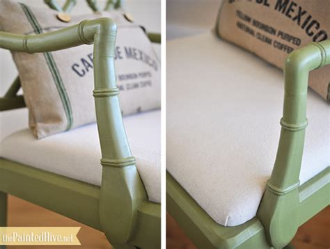 how to upholster a armchair the painted hive bamboo chippendale chair makeover