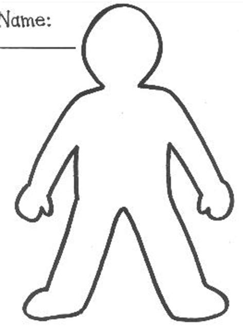 person template preschool template for clipart best