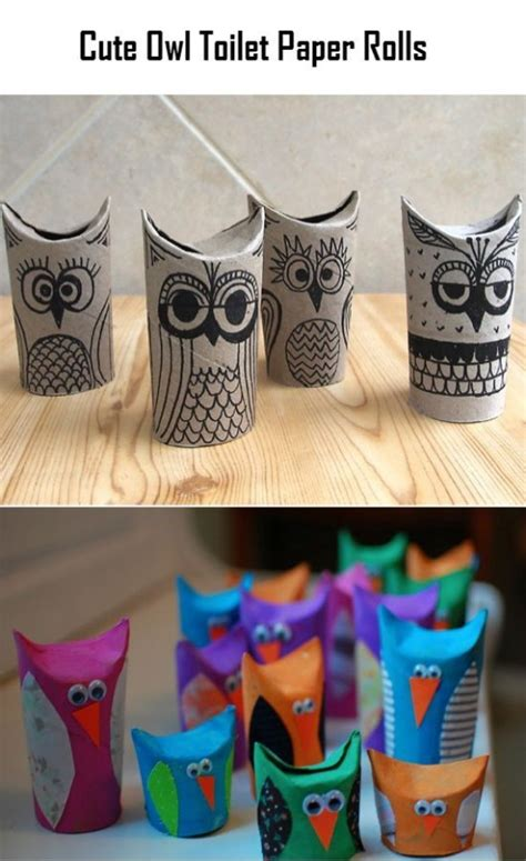 Owl Craft Toilet Paper Roll - diy birds craft 24 easy paper owl craft ideas for