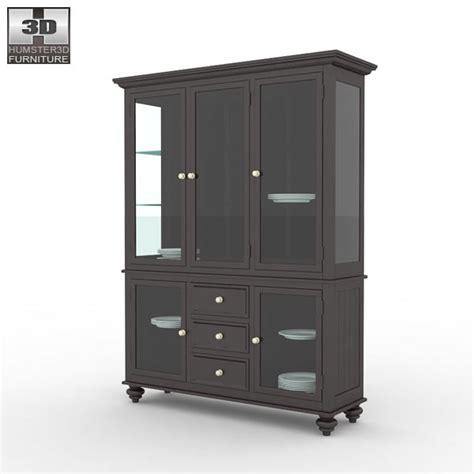 Lq Lea Navy black camden china cabinet lea american drew 3d model humster3d