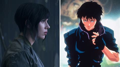 Scarlett Johansson Anime Movie Ghost In The Shell Movie Anime Vs Scarlett Johansson