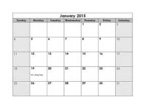 Printable 2015 Monthly Calendar Template by 2015 Monthly Calendar Free Printable Templates