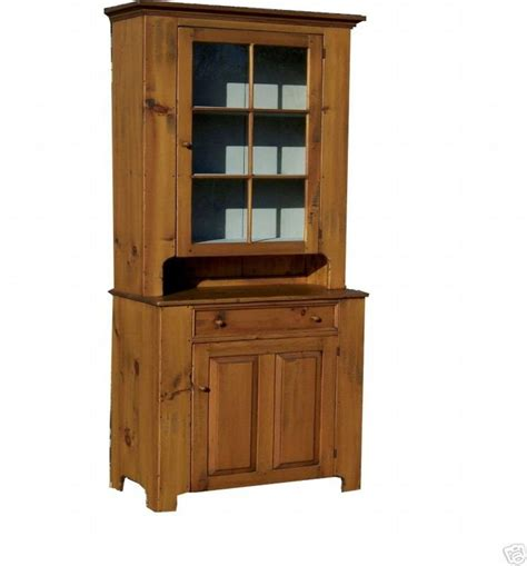 Antique Step Back Cabinet by Primitive Hutch Step Back Cupboard Early American Antique
