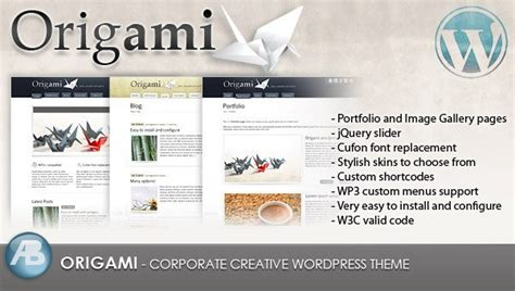 wordpress theme origami free best premium wordpress plugins themes wparena