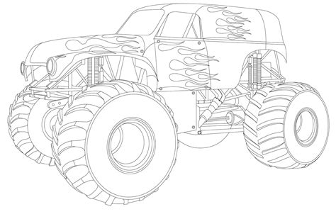 grave digger monster truck coloring pages monster truck coloring pages grave digger colouring