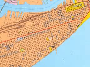 galveston city map galveston mappery