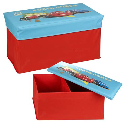 ottoman for kids disney pixar cars lightning mcqueen ottoman kids storage