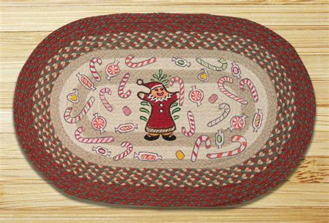 Gingerbread Rugs by Gingerbread Santa Braided Jute Rug By Capitol Earth Rug