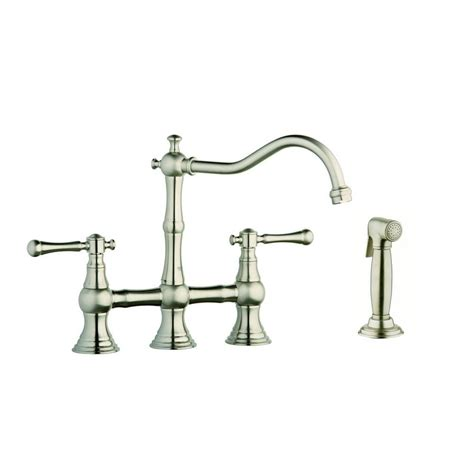 classic high arc swivel kitchen faucet with side spray oil grohe 12 in 2 handle high arc side sprayer bridge kitchen