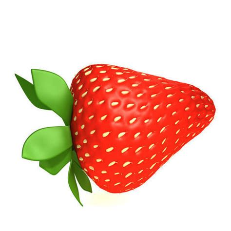 3d 3 Strawberry strawberry 3d cgtrader