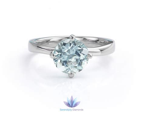 Aquamarine Engagement Rings by Combining Aquamarine And Platinum For Engagement Rings