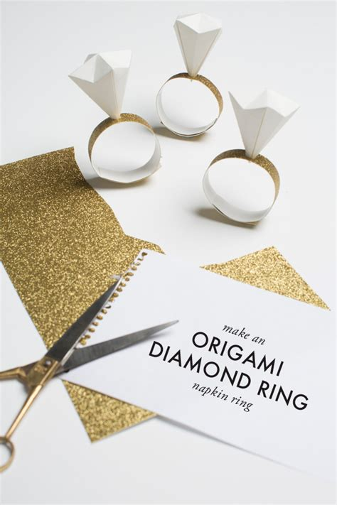 Origami For Napkins - diy origami napkin ring for or bridal shower