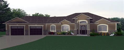 Floor Plans For Ranch Homes With Walkout Basement bungalow plan 2011559 on a slab edesignsplans ca