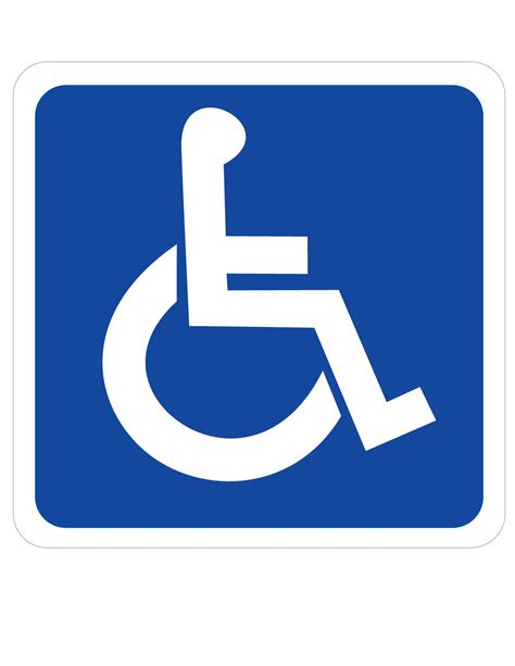 Ada Bathroom Designs by Printable Handicap Sign Clipart Best