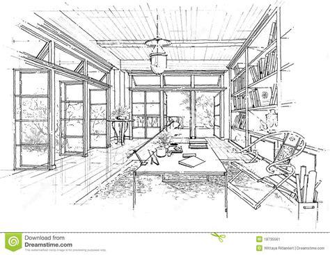 interior design and construction interior architecture construction landscape sketc stock