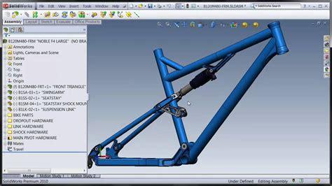 design bike frame software solidworks suspension frame 1 youtube