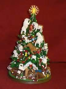 bulldog christmas tree danbury mint in original styro