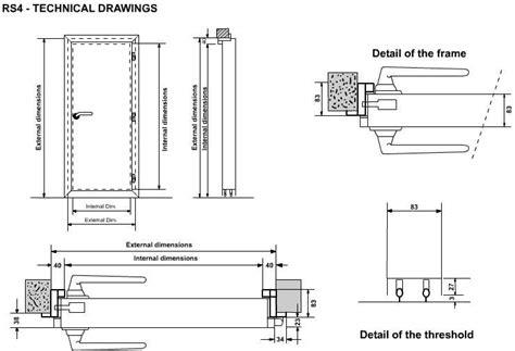 Steel Door Section by Soundproof Door Design Details For Soundproof Doors