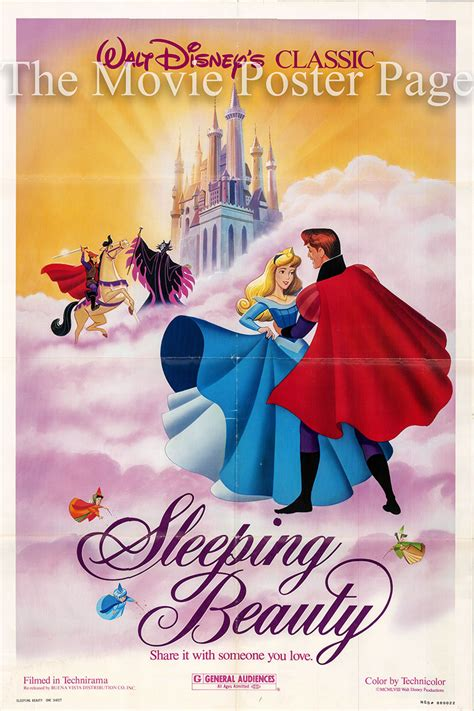 film disney sleeping beauty sleeping beauty r1986 disney animation one sheet f