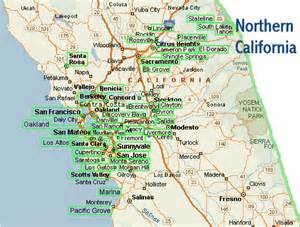 California map northern california