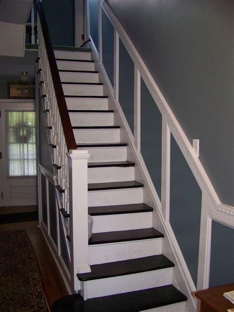 Wainscoting Stairs by How To Install Wainscoting Stairway Wainscoting Redo