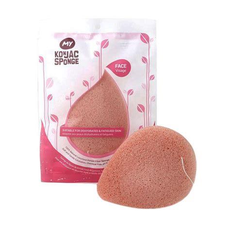 My Konjac Sponge Clay jual my konjac sponge all fiber pink clay