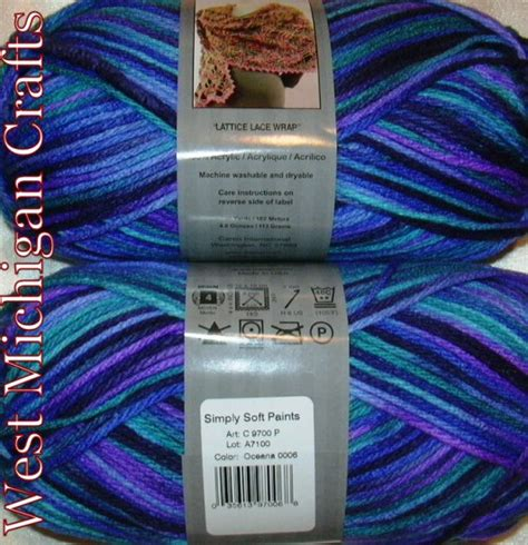 caron simply soft paints yarn 4 oz skein oceana 9700 6